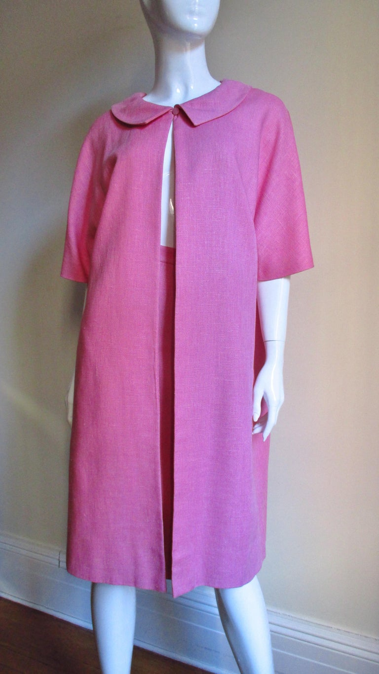 B H Wragge 1960s Linen Coat and Skirt For Sale 3