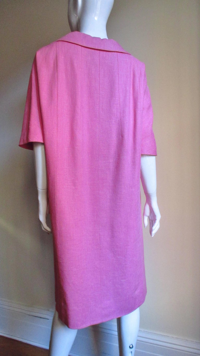 B H Wragge 1960s Linen Coat and Skirt For Sale 6
