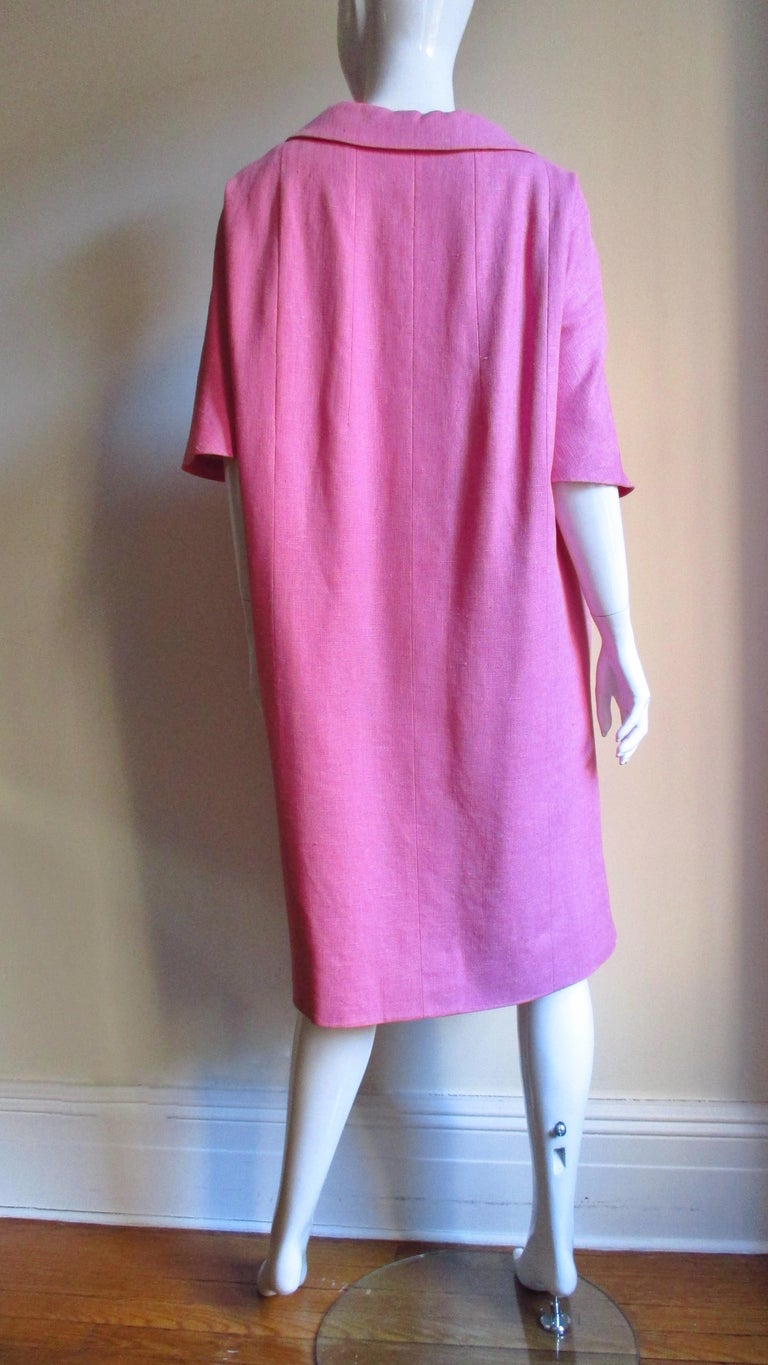 B H Wragge 1960s Linen Coat and Skirt For Sale 7