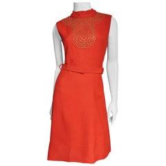 B. H. Wragge Studded Linen Dress 1970