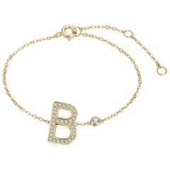 B-Initial Bezel Chain Anklet