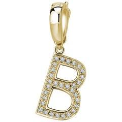 B-Initial Pendant/Charm