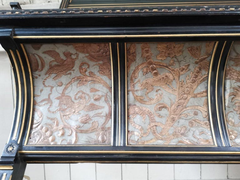 B J Talbert Aesthetic Movement Carved & Gilt Wall Shelf with Mythical creatures For Sale 3
