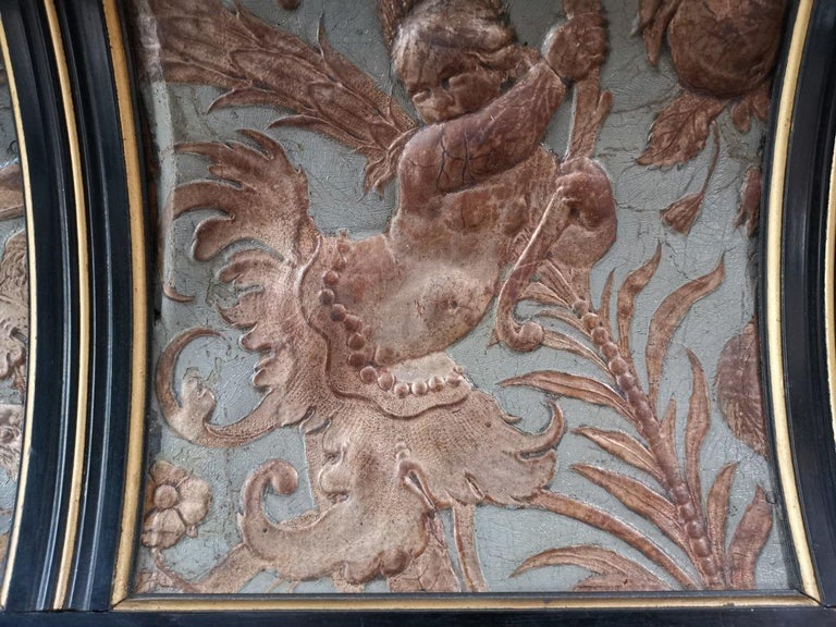 B J Talbert Aesthetic Movement Carved & Gilt Wall Shelf with Mythical creatures For Sale 4