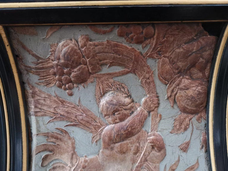 B J Talbert Aesthetic Movement Carved & Gilt Wall Shelf with Mythical creatures For Sale 5