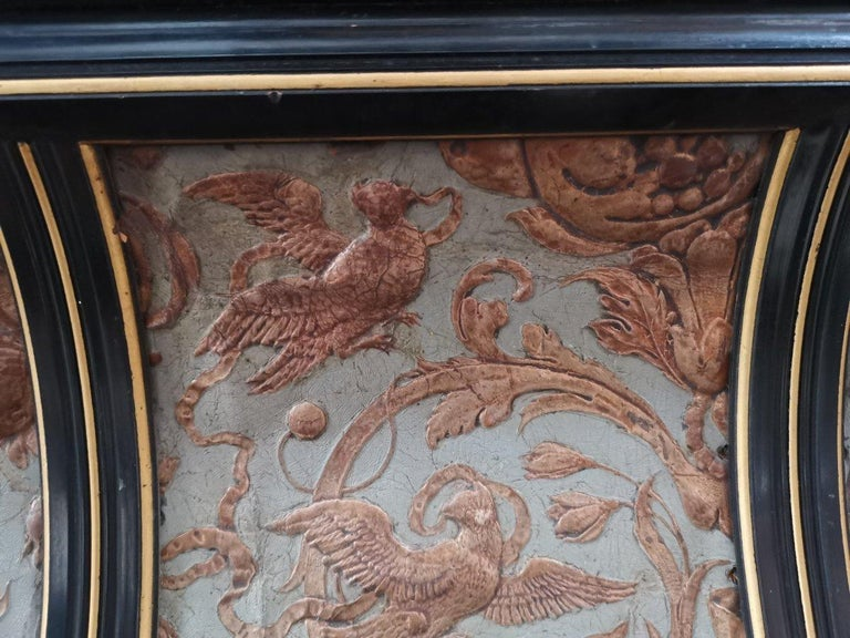 B J Talbert Aesthetic Movement Carved & Gilt Wall Shelf with Mythical creatures For Sale 6