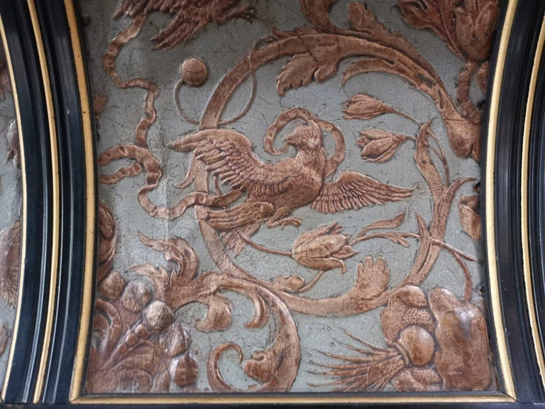 B J Talbert Aesthetic Movement Carved & Gilt Wall Shelf with Mythical creatures For Sale 7