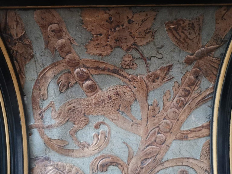 B J Talbert Aesthetic Movement Carved & Gilt Wall Shelf with Mythical creatures For Sale 10