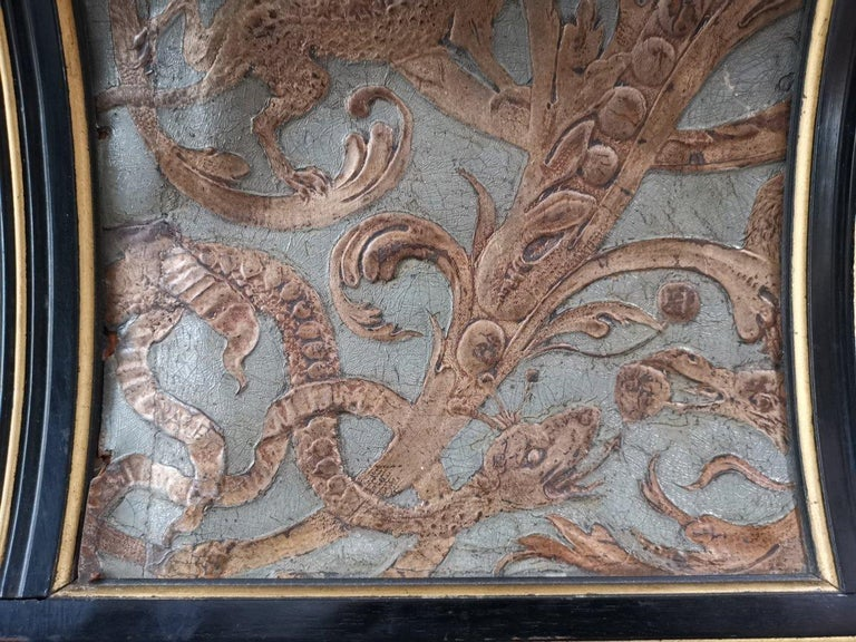 B J Talbert Aesthetic Movement Carved & Gilt Wall Shelf with Mythical creatures For Sale 11