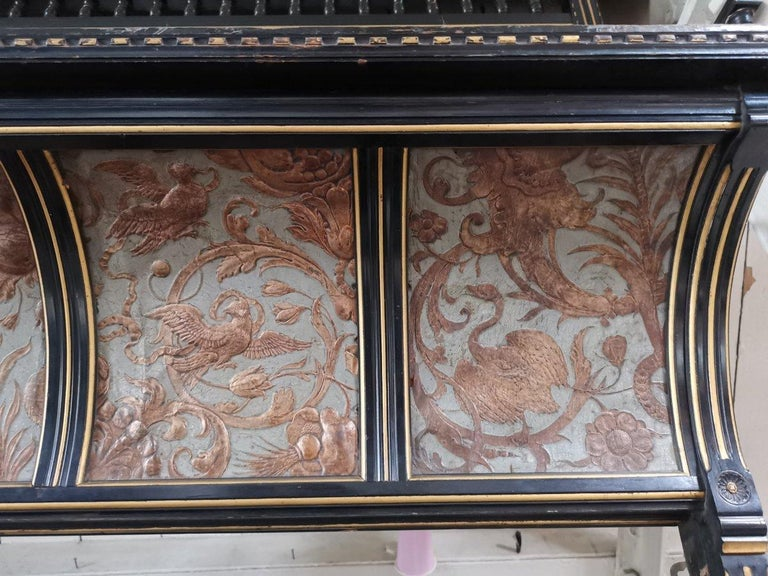B J Talbert Aesthetic Movement Carved & Gilt Wall Shelf with Mythical creatures For Sale 1