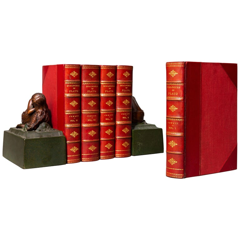 5 Volumes.   Bound in 3/4 red Morocco, Cloth boards, top edges gilt, raised bands, gilt panels.   Published: London: Oxford University Press 1892.