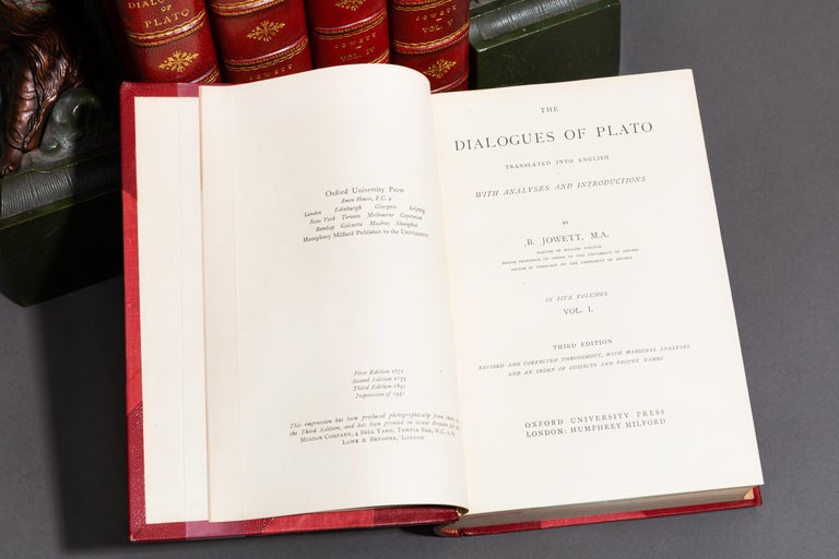 B. Jowett, The Dialogues of Plato In Good Condition In New York, NY