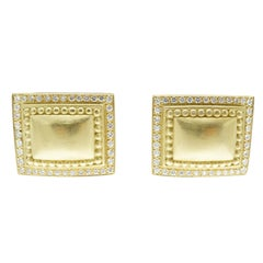 B. Kieselstein Cord Diamond 18 Karat Gold Ear Clips