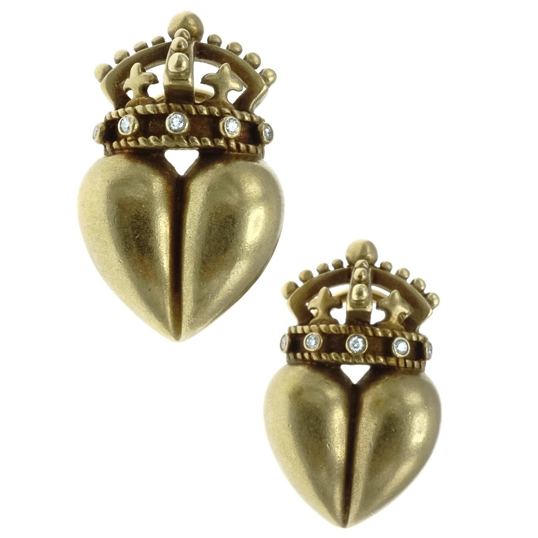 B. Kieselstien Cord Diamond 18 Karat Gold Earrings