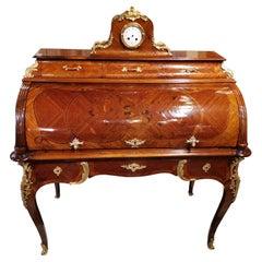 B. Molitor Signed Louis XV Style Bureau Cylinder 19th Century