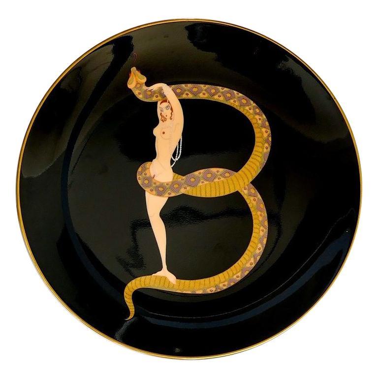 B Plate the Alphabet, Erté 'After', 1986 For Sale