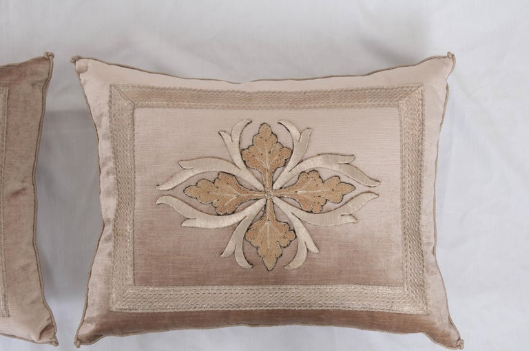 Gilt B. Viz Design Antique Textile Pillow For Sale