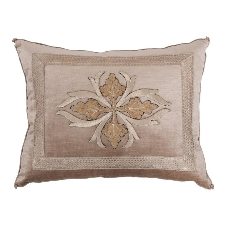 B. Viz Design Antique Textile Pillow For Sale
