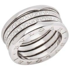 B Zero 1 Four Row Pavé Set Diamond Ring