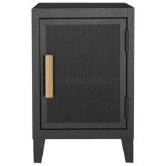 B1 Perforated Low Locker in Graphite with Right Door Opening by Tolix, US