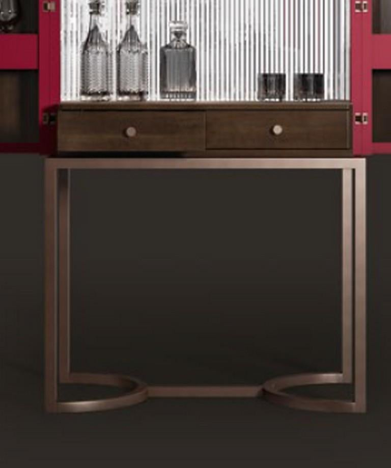 Modern B126 Bluemoon Bar Cabinet For Sale