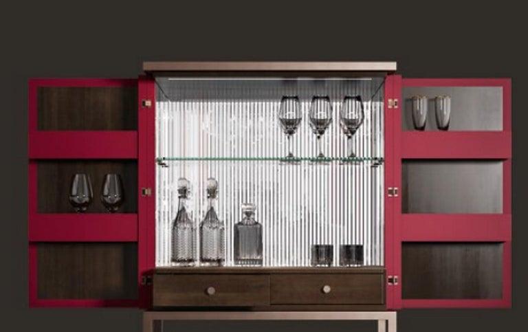 Italian B126 Bluemoon Bar Cabinet For Sale