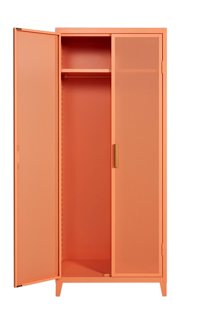 Modern B2 Perforated Locker Wardrobe in Flamingo Pink by Chantal Andriot and Tolix For Sale