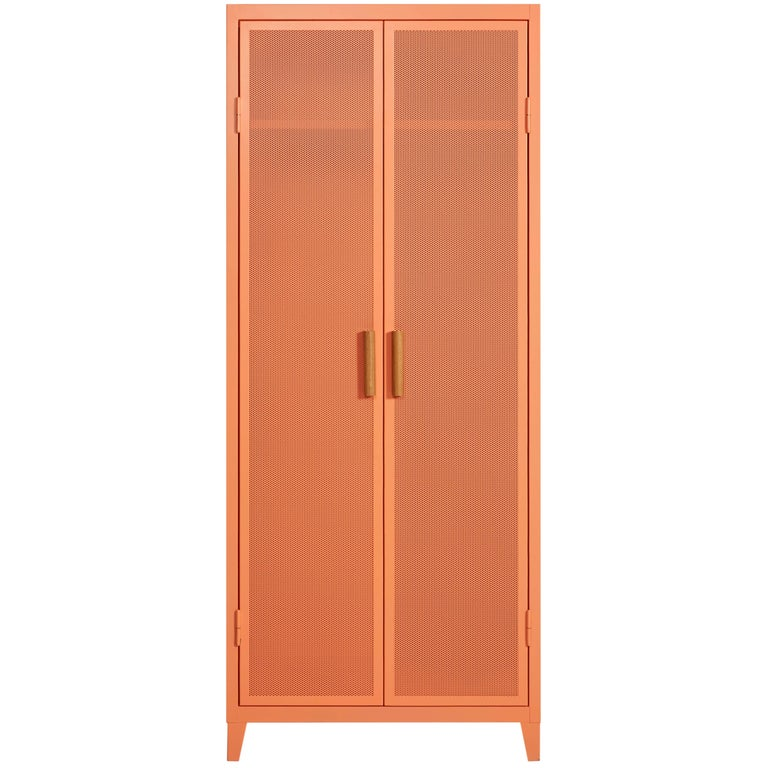 B2 Perforated Locker Wardrobe in Flamingo Pink by Chantal Andriot and Tolix For Sale