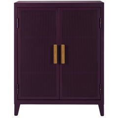 B2 Perforated Low Locker in Aubergine by Chantal Andriot and Tolix