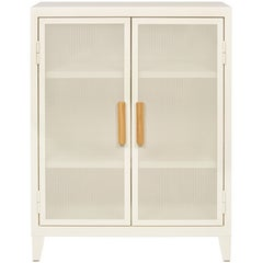 B2 Perforated Low Locker in Ivory by Chantal Andriot and Tolix
