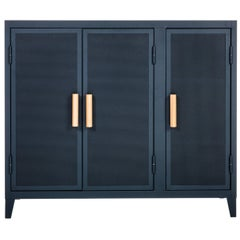 B3 Perforated Low Locker in Midnight Blue by Chantal Andriot and Tolix