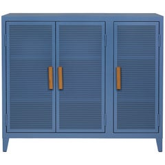 B3 Perforated Low Locker in Provence Blue by Chantal Andriot and Tolix