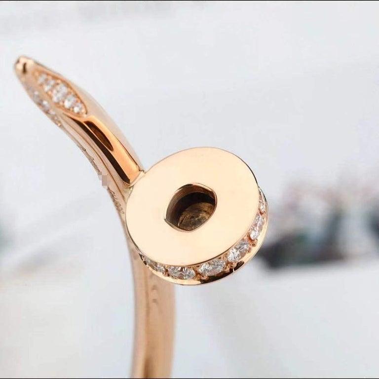 Cartier JUSTE UN CLOU Diamond Bracelet Rose Gold Size 17 For Sale 1