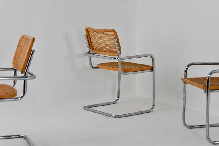 Bauhaus B64 Variant Gavina Marcel Breuer Made in Italy, 1970s For Sale