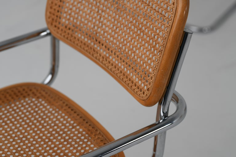 Late 20th Century B64 Variant Gavina Marcel Breuer Made in Italy, 1970s For Sale
