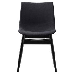 BA001F Preludia Wood Chair in Black Oak with Upholstered Seat by Brad Ascalon
