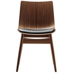 BA001S Preludia Wood Chair in Walnut Oil with Upholstered Seat by Brad Ascalon