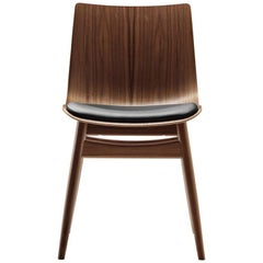 BA001S Preludia Wood Chair in Walnut Oil with Thor 301 Leather by Brad Ascalon