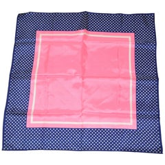 Baar & Beards Navy Polka Dot Borders with Bold Pink Center Scarf