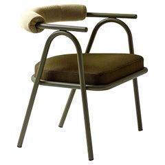 Baba Olive Green Armchair by Serena Confalonieri