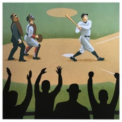 Babe Ruth, the Sultan of Swat, Original Painting by Lynn Curlee