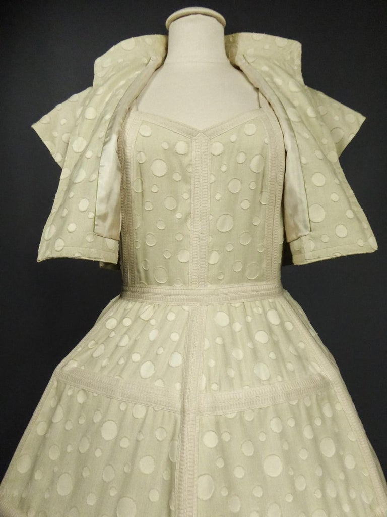 Baby Doll Set Dress Bolero & Pants from Andrée Vizir French House Circa 1980 For Sale 5