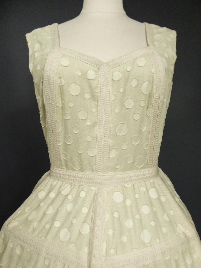 Baby Doll Set Dress Bolero & Pants from Andrée Vizir French House Circa 1980 For Sale 7