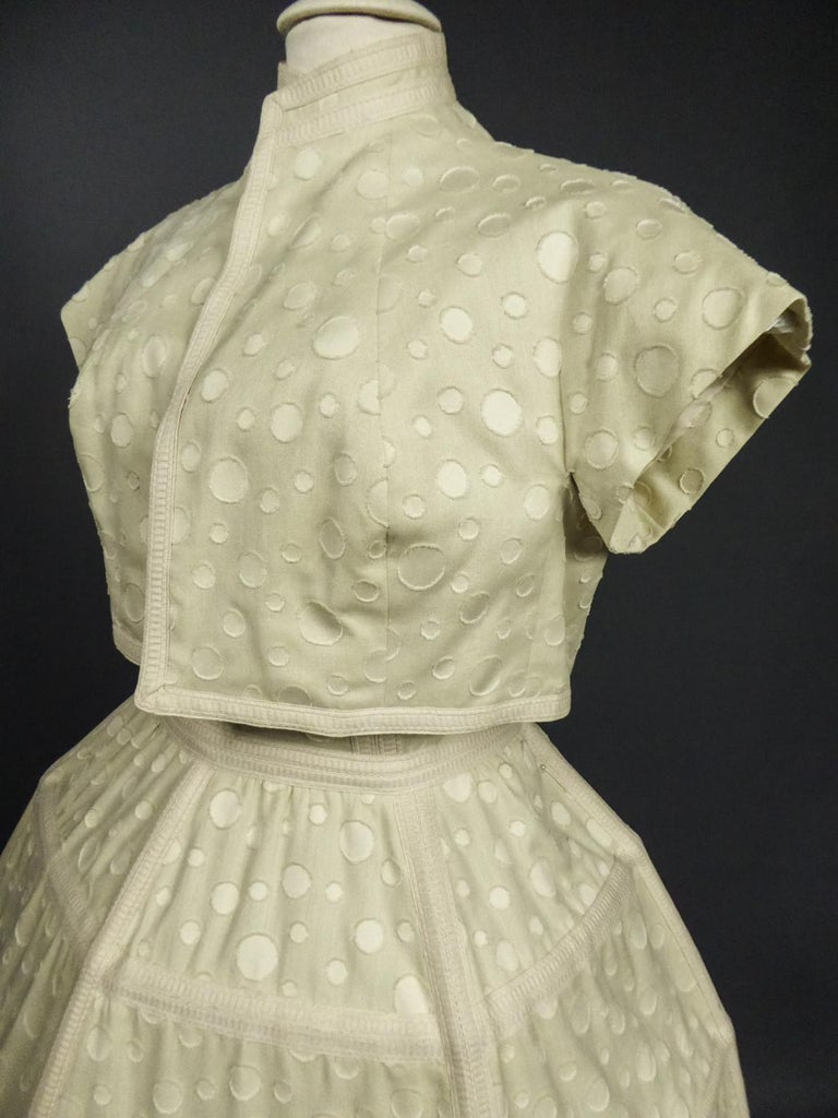 Baby Doll Set Dress Bolero & Pants from Andrée Vizir French House Circa 1980 For Sale 1