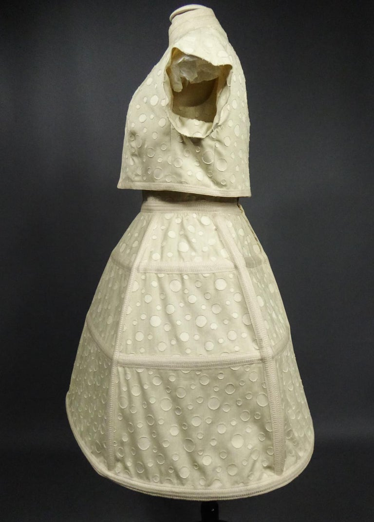 Baby Doll Set Dress Bolero & Pants from Andrée Vizir French House Circa 1980 For Sale 2