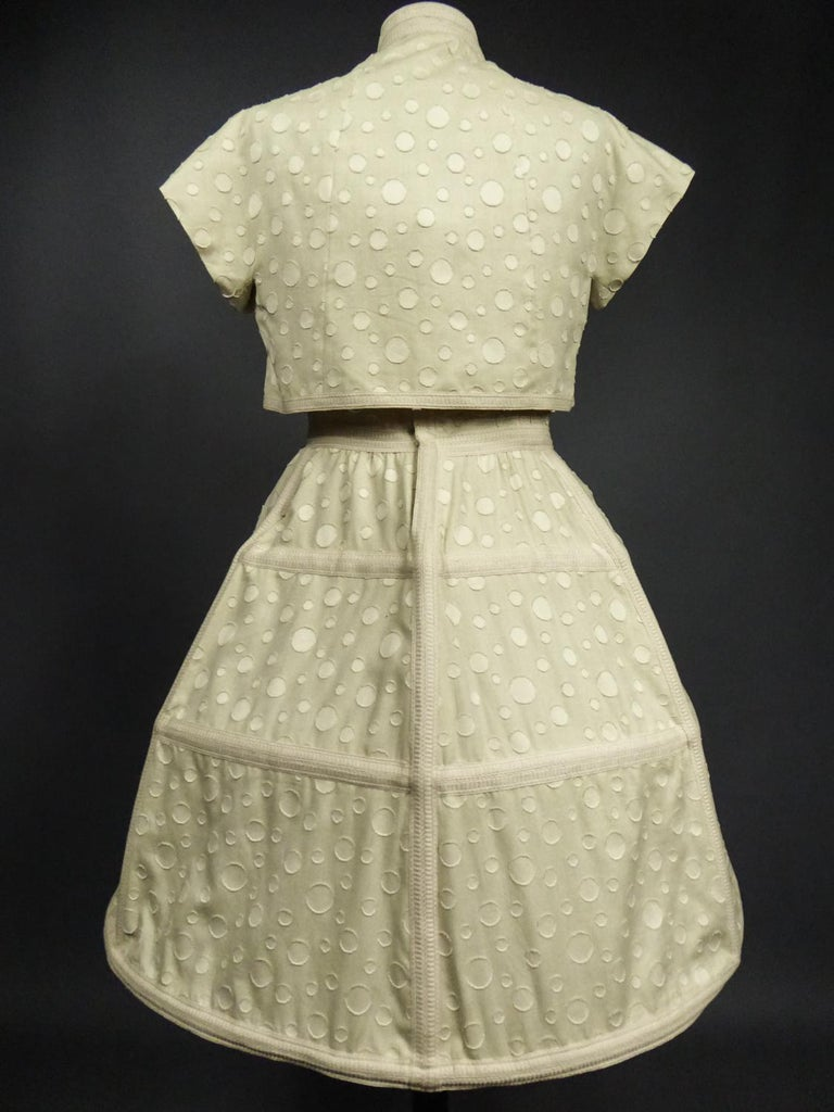 Baby Doll Set Dress Bolero & Pants from Andrée Vizir French House Circa 1980 For Sale 3