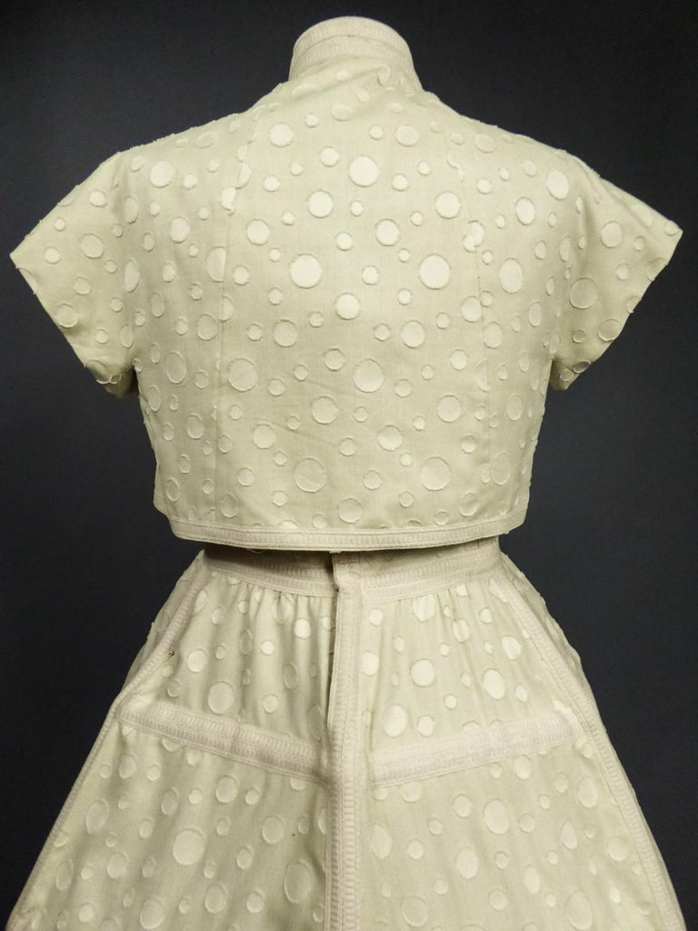 Baby Doll Set Dress Bolero & Pants from Andrée Vizir French House Circa 1980 For Sale 4