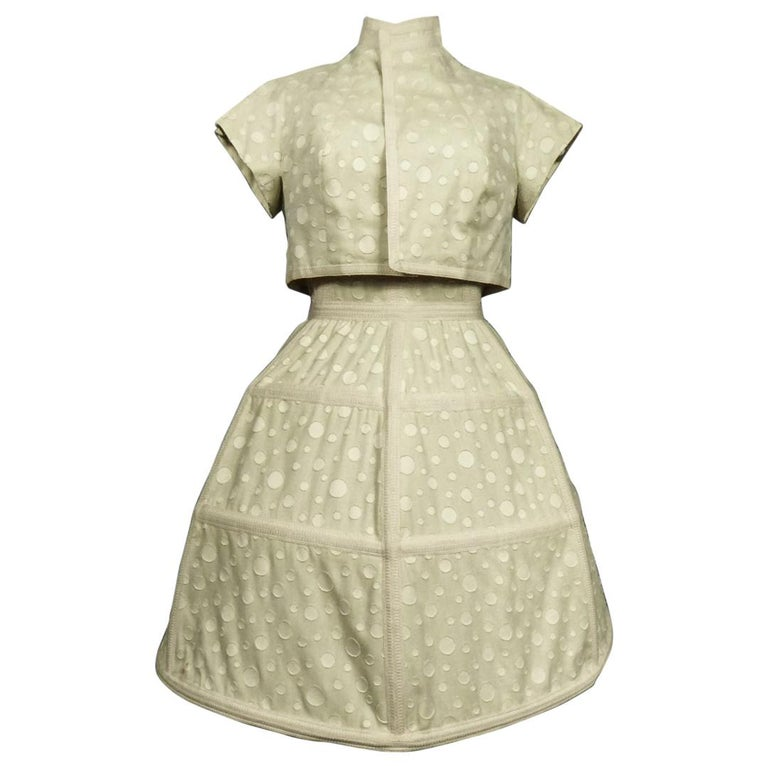 Baby Doll Set Dress Bolero & Pants from Andrée Vizir French House Circa 1980 For Sale