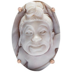 Baby Hand-Carved Cameo Ring in Sardonyx Shell & 18-Karat Gold by Cindy Sherman