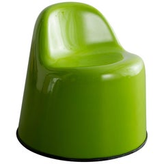 Baby Mohair Chair in Lime Green Plastic by Wendell Castle, 1971